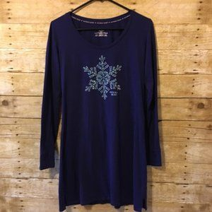 Victoria's Secret Navy Snowflake Gem Sleep Shirt